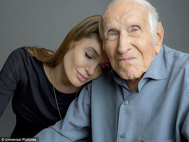 Angelina e Louis Zamperini, personagem real de seu novo filme