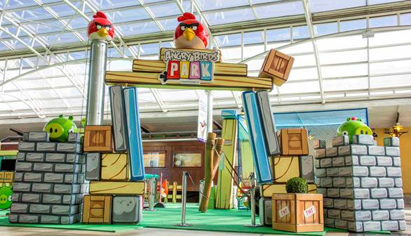 Angry Birds: parque reúne seis atividades para crianças