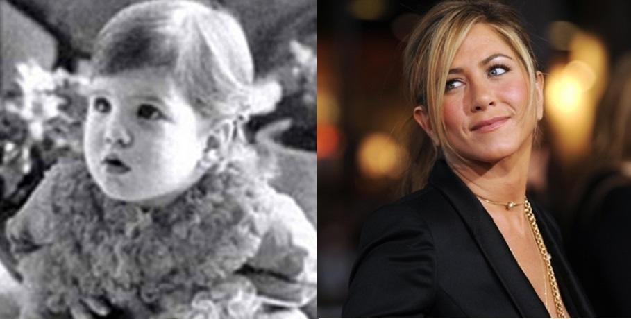 Olha que gracinha era Jennifer Aniston quando bebê