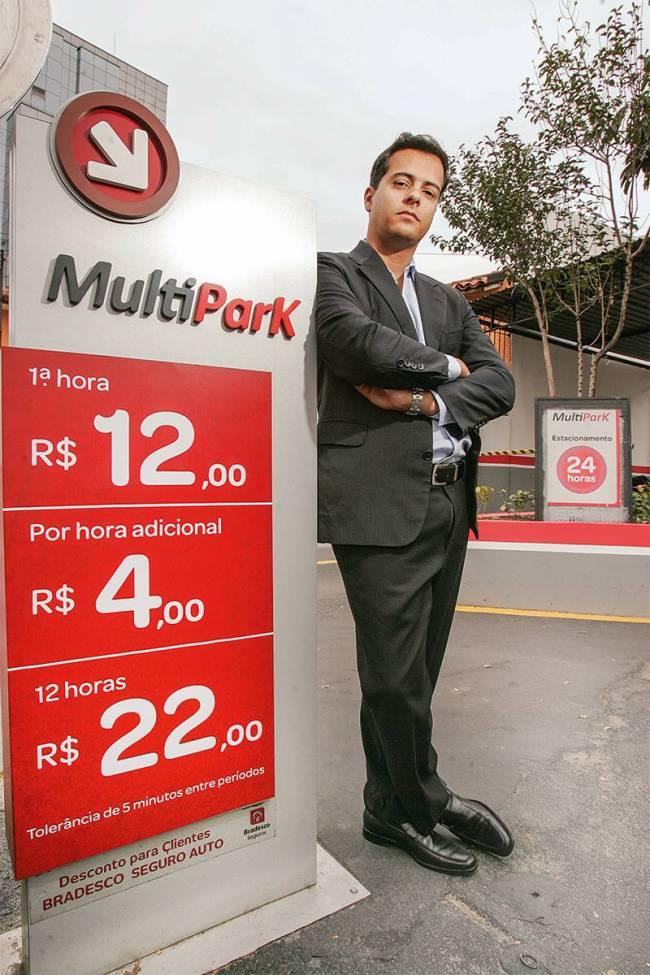 Mário Coutinho, da Multipark: a rede criou um aplicativo próprio