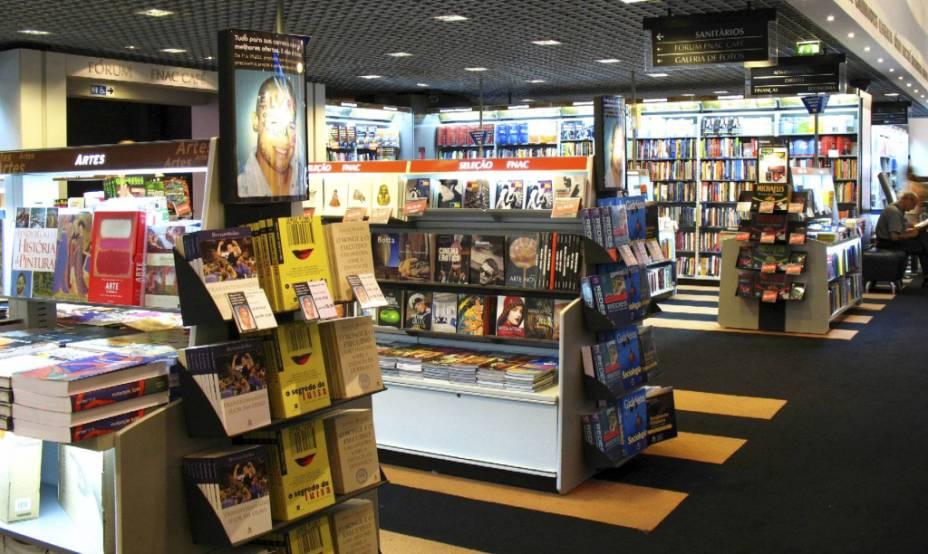Área de livros da Fnac da Avenida Paulista
