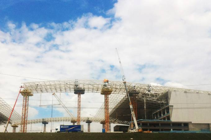 Arena Corinthians quase pronta. FOTO IVAN DIAS