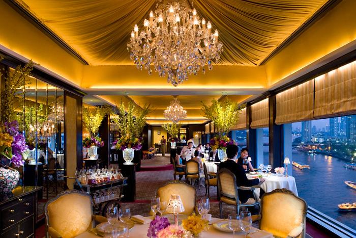Le Normandie, na cobertura do Hotel Mandarin Oriental, de Bangcoc: receitas clássicas francesas às margens do rio Chao Phraya