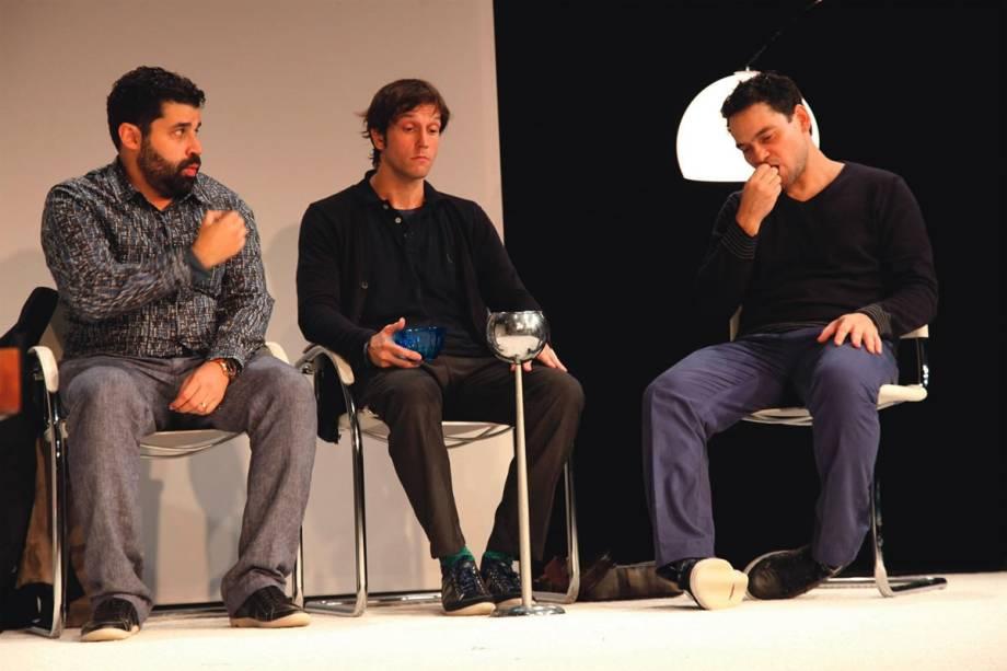 Marcelo Flores, Vladimir Brichta e Cláudio Gabriel: companheiros de opiniões distintas