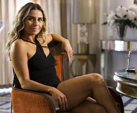 Atena: inspirou vestido de grife badalada (Foto: Rede Globo)