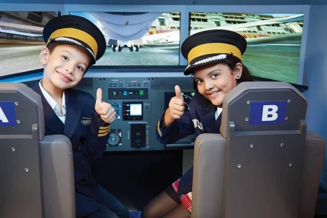 KidZania Atividade piloto de aviao