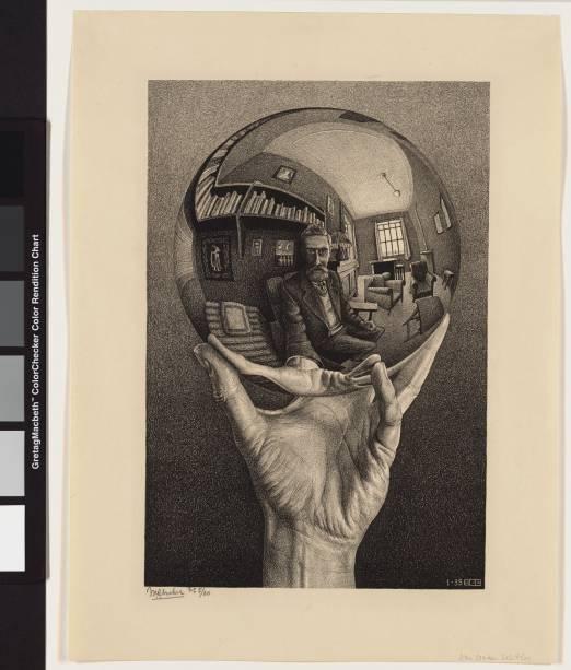 Auto-retrato no Espelho Esférico, de 1950: um dos 95 esplêndidos trabalhos de Escher feitos para desafiar os olhos