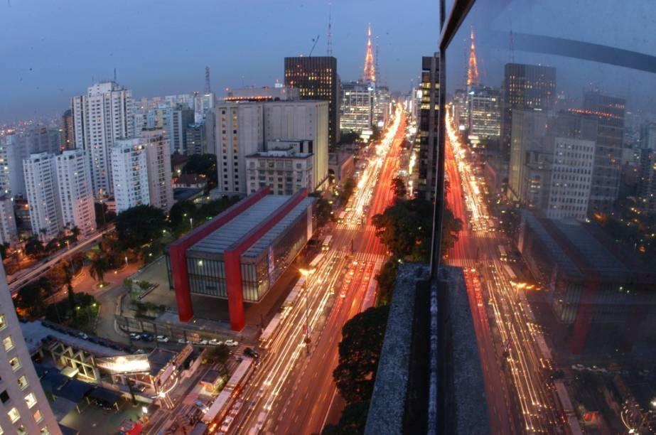 Vista aérea da Avenida Paulista, uma das mais famosas da cidade