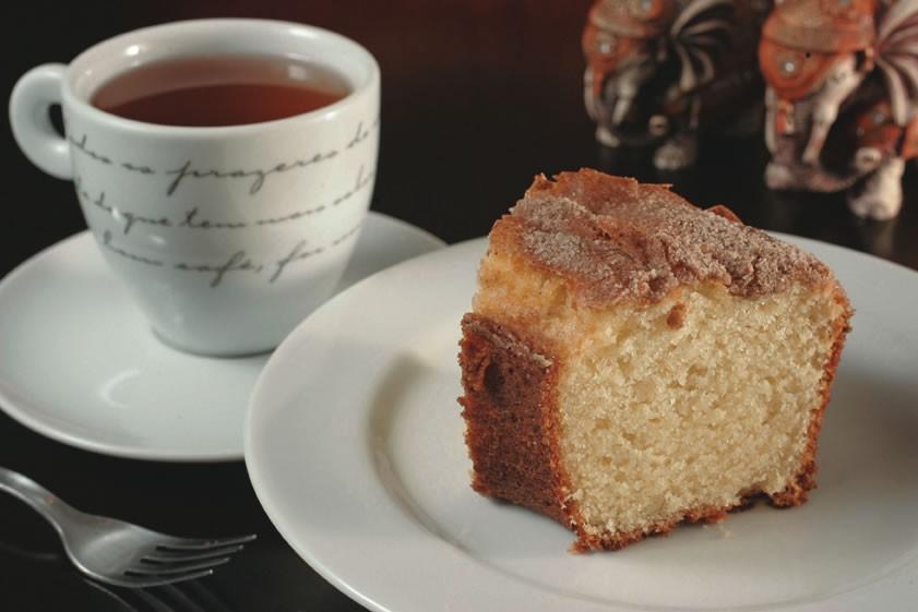 Chá com bolo de iogurte e canela: destaque no Bangkok Café