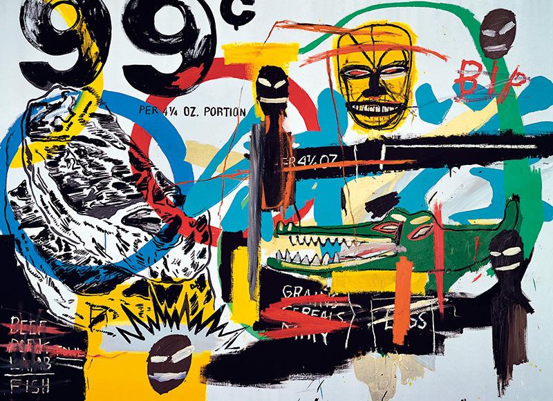 A tela de Jean-Michel Basquiat está na mostra Visões na Coleção Ludwig