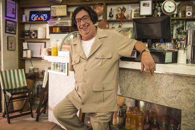 O ator Marcos Oliveira caracterizado como Beiçola, de A Grande Família