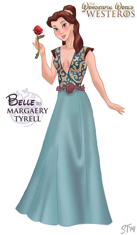 A Bela, da Bela e a Fera, como a bruxa Margaery Tyrell