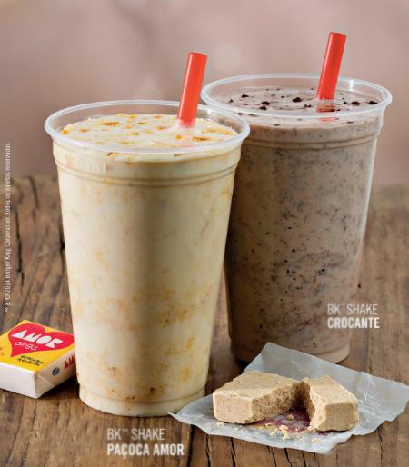 Burger King: milk-shake de paçoca Amor