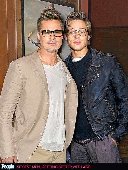 Brad Pitt em 2014 e em 1988