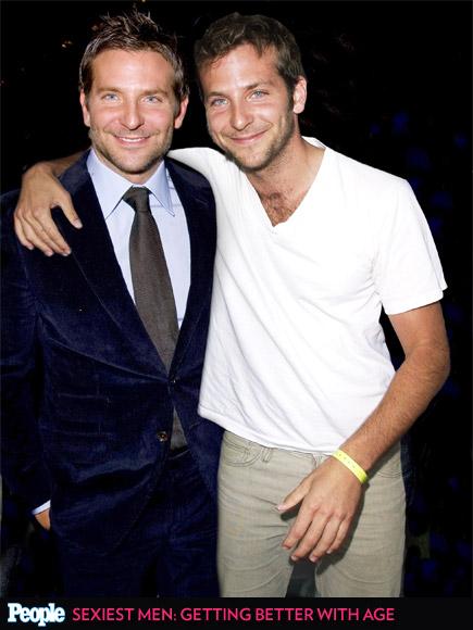 Bradley Cooper em 2014 e em 2002
