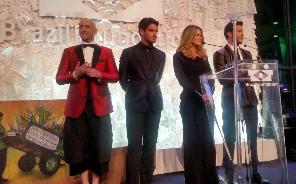 Paulo Gustavo, Alexandre Pato, Didi Wagner e Klebber Toledo (Foto: Tatiana Izquierdo)