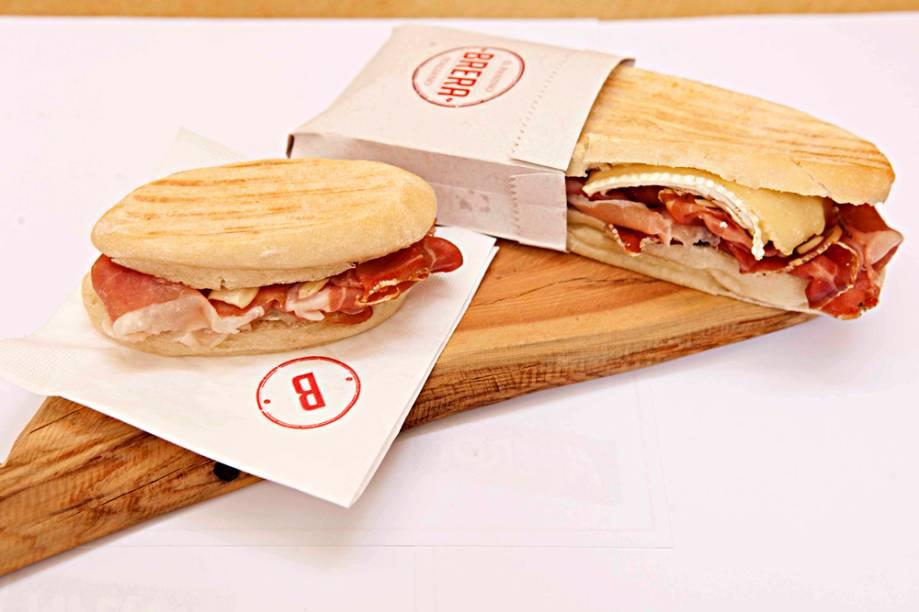 Brera: novo sanduíche leva presunto de Parma com 18 meses de maturação
