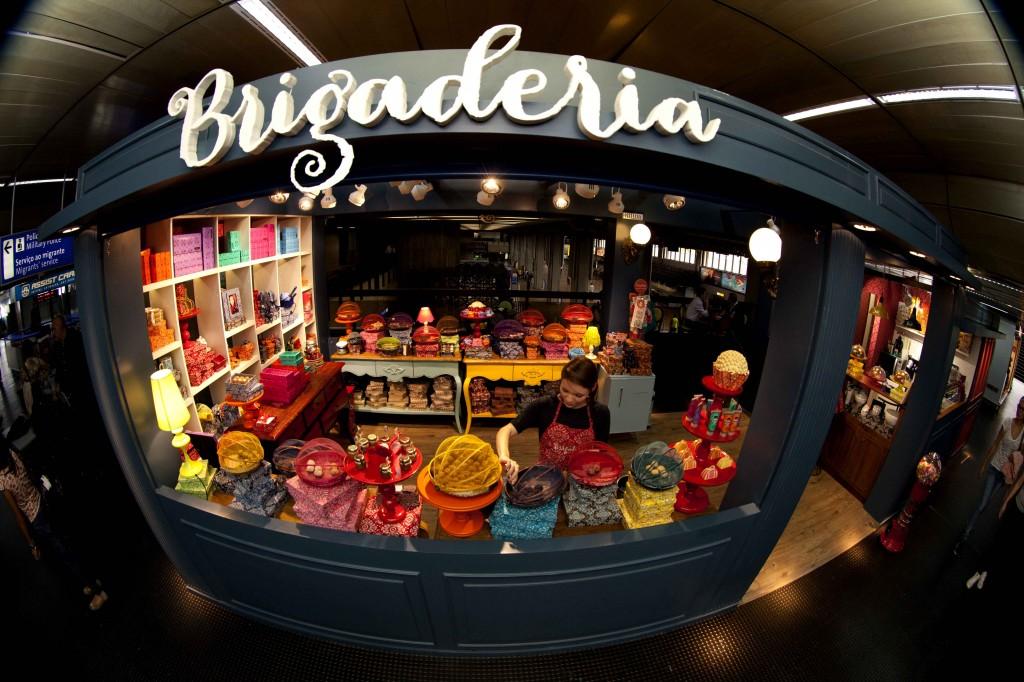 A fofíssima loja da Brigaderia, com várias versões do docinho mais querido do país