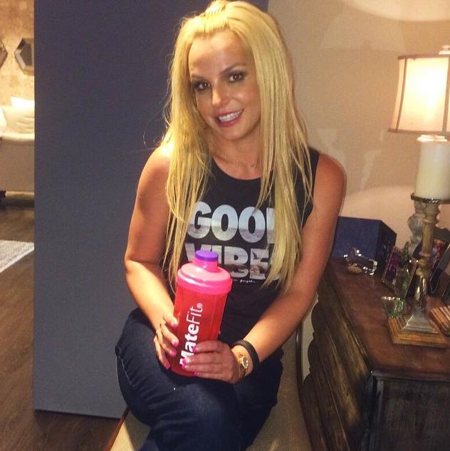 A cantora pop Britney Spears exibia longos cabelos loiros (Foto: Reprodução/Instagram)