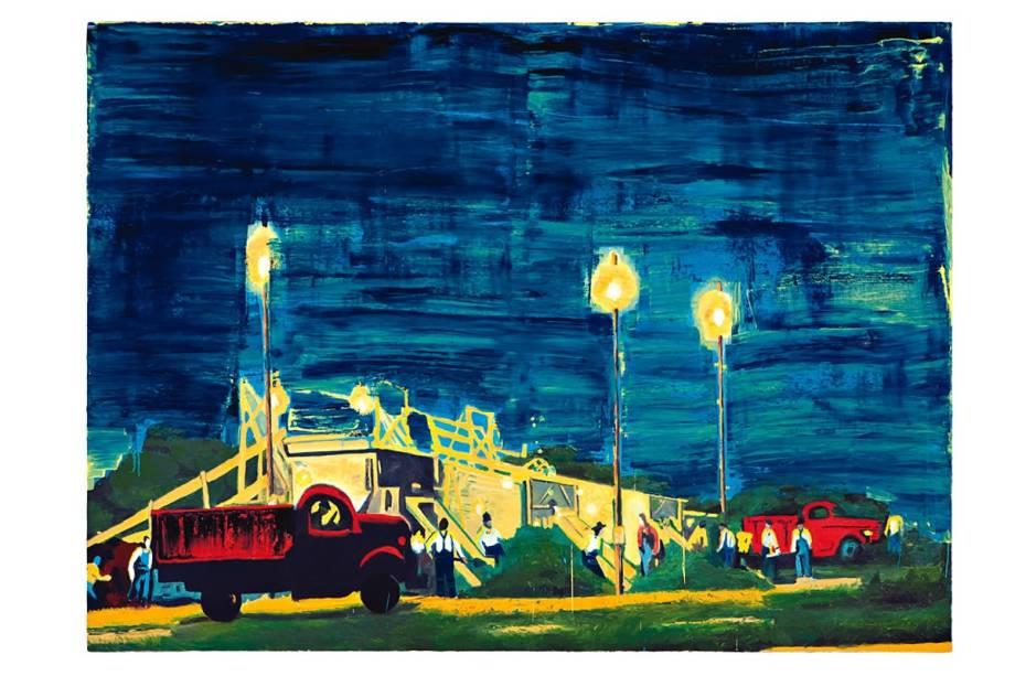 Mostra Os Dez Primeiros Anos: Caminhão Vermelho, de Bruno Dunley, é uma das obras expostas