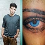 Uma verdadeira homenagem: o ator Bruno Gagliasso fez uma reprodução do olho da esposa com uma caveira (????) na íris sabe-se lá porquê