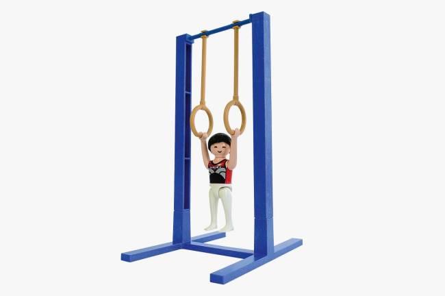 Boneco Playmobil inspirado nas modalidades disputadas na Olimpíada