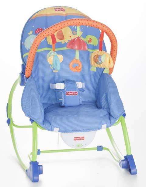 Cadeira de balanço com música e vibração, da Bebê Mix