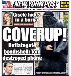 Capa do jornal New York Post