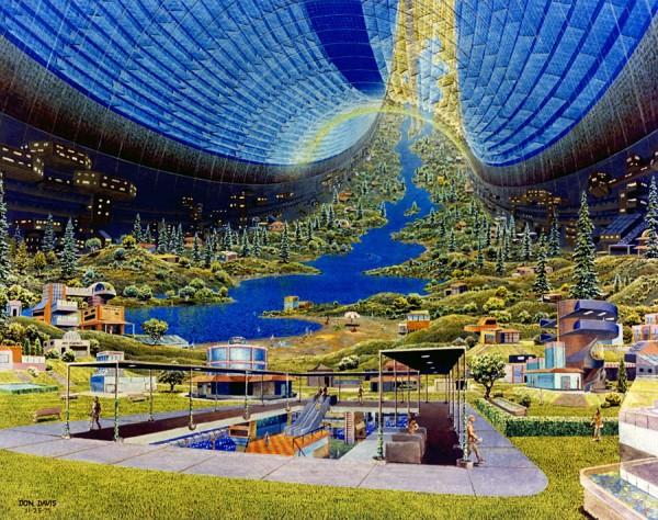 Água, florestas, tudo na mais completa organização. Sério, como eles vão criar uma atmosfera ideal para tudo isso?