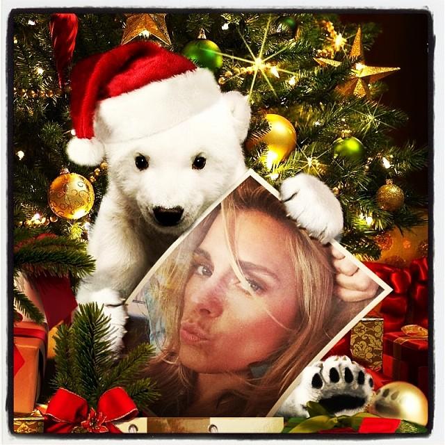 Carolina Dieckmann deixou uma foto como mensagem de Natal