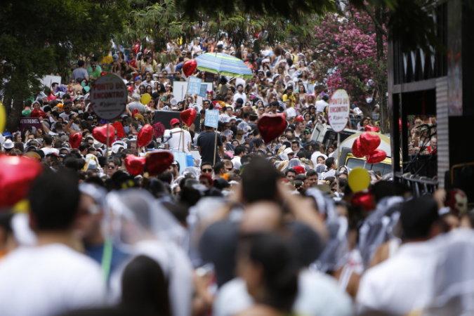 Casa comigo foi o bloco com o maior público no fim de semana (Foto: Ricardo D'Angelo/Veja SP)