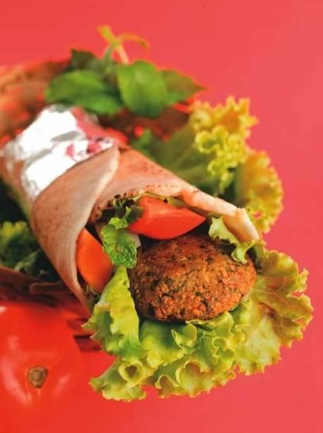 Sanduíche de faláfel: boa pedida