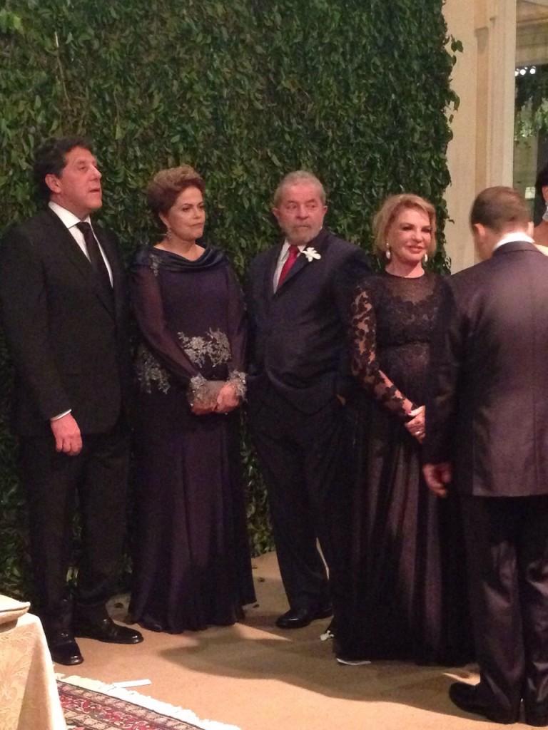 Dilma, Lula e Dona Marisa Letícia no casamento de Kalil Filho