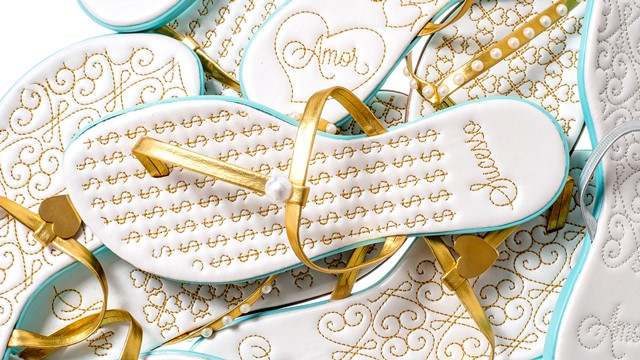 Sandalinhas personalizadas da Gift Chic