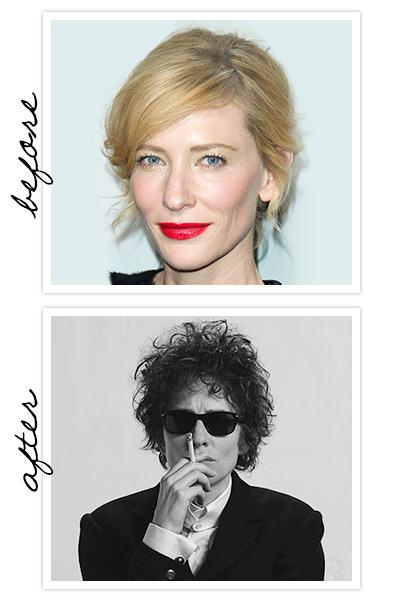 Cate Blanchett foi uma das versões do cantor Bob Dylan em Não Estou Lá