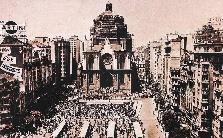 Catedral da Sé: inauguração foi um dos acontecimentos marcantes de 1954