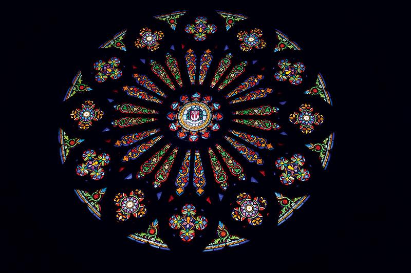Um dos vitrais da Catedral da Sé