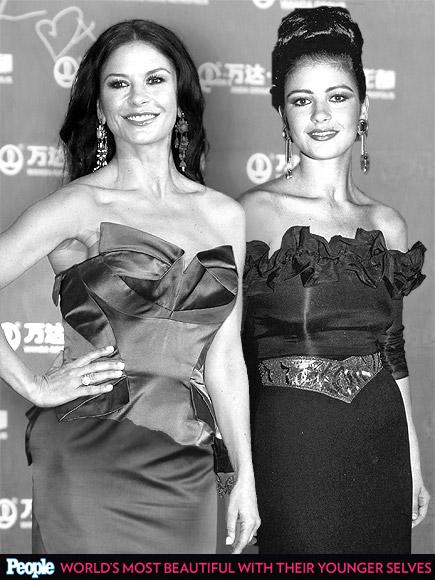 Catherine Zeta-Jones em 1992 e em 2013