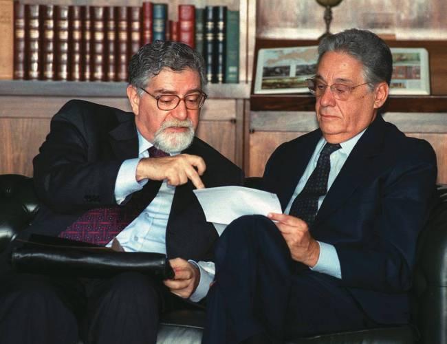 Celso Lafer com Fernando Henrique Cardoso