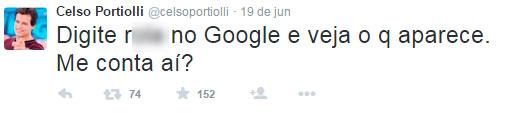 Post publicado por Celso Portiolli no Twitter (Reprodução)