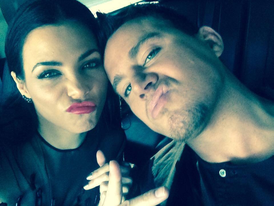 Uma selfie do casal Channing Tatum e Jenna Dewan
