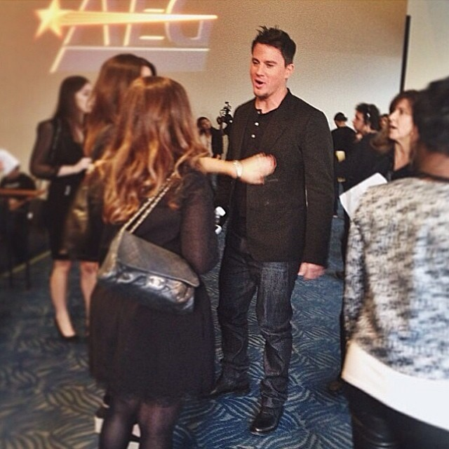 Channing Tatum nos bastidores