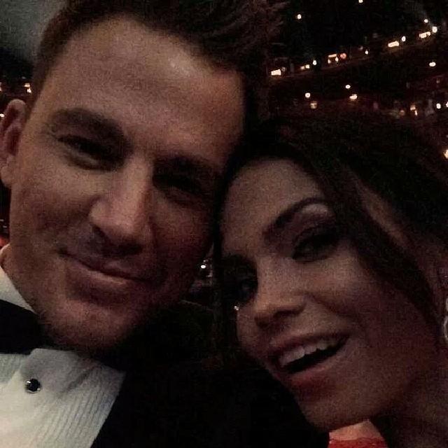"""Channing Tatum numa """"selfie"""" com a mulher. Podem se morder, meninas!"""