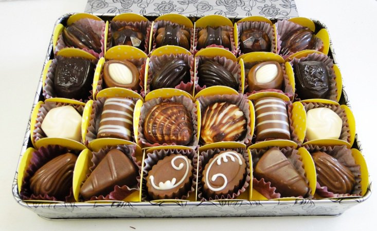 Um das opções da casa de chocolates em Interlagos (Foto: Divulgação)