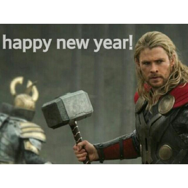 Chris Hemsworth fez um cartão de Happy Nee Year usando seu personagem mais famoso, o Thor