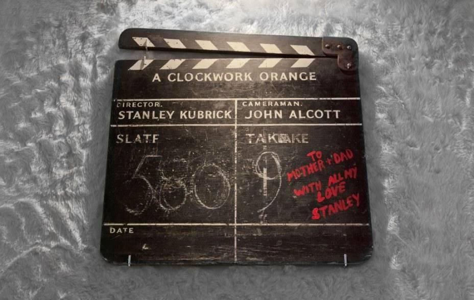 Claquete usada nas gravações de Laranja Mecânica