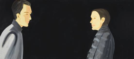 Tela de Alex Katz: série atual trabalha retratos em fundo negro