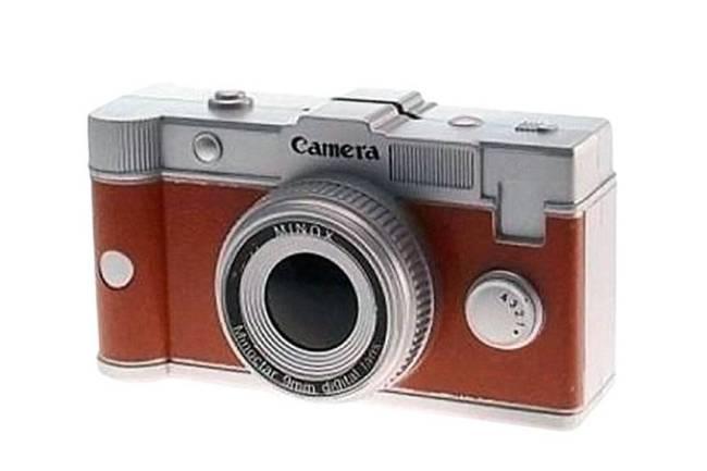 Cofre Câmera Retrô Marrom