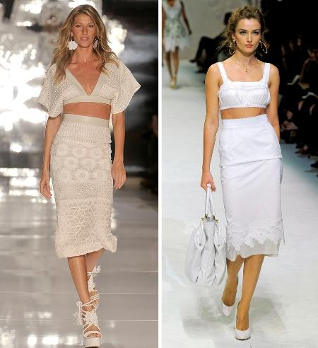 Vestido da grife Colcci (à esq.) e da Dolce & Gabbana: estilista nega inspiração