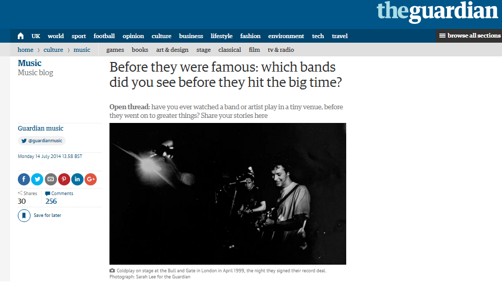 coldplay the guardian